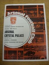 30/03/1970 Arsenal v Crystal Palace  (Creased, Folded, Team Changes). Unless pre