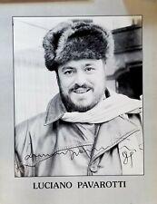Luciano Pavarotti Opera Tenor Huge signed Poster -massive autograph! 1989
