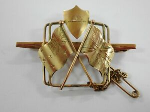 WWI 9CT GOLD AUSTRALIAN IMPERIAL FORCE SWEETHEART PIN BROOCH