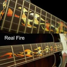 Fire Flames Real Fire Guitar Fret board Markers Inlay stickers