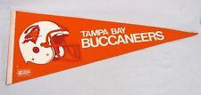 5be75b15c Vintage NFL Tampa Bay Buccaneers Pennant 1990s w  Helmet and Logo Size 30
