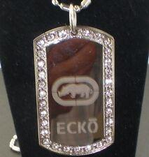 ECKO Regular CZ Dog Tag Pendant Necklace
