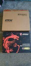 "MSI GL62M 7RDX-2073UK 15.6"" Gaming Laptop Core i5-7300HQ, 8GB RAM 1TB+256GB SSHD"