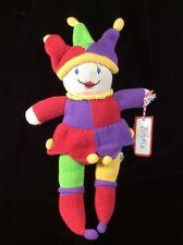 "Zubels Organics Jestering Jack Jester Knit Plush Soft Toy Tags 16"" Stuffed"