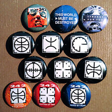 """12 Front 242 1"""" Buttons - Tyranny For You Wax Trax EBM Industrial Headhunter"""
