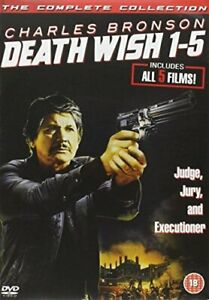 DEATH WISH 1 TO 5 COMPLETE BOX SET DVD [UK] NEW DVD
