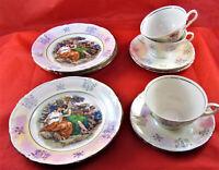3 alte Kaffeegedecke aus Porzellan, Kahla (DDR) 50iger & 60iger