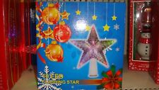 Led Tree Topper Star Christmas Decorations Top Xmas Star Light Up With Battery