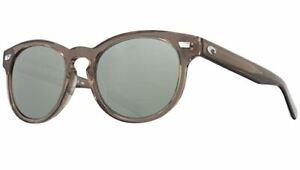 COSTA DEL MAR Del Mar Polarized Sunglasses, Shiny Taupe Crystal / Gray 580G