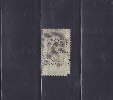 Perfins - Great Britain - #105 - 6p 1883-84 Queen Victoria Issue - Pair