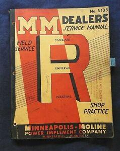 "1939-1954 MINNEAPOLIS MOLINE ""RTU RTS RTN RTE RTI"" TRACTOR SERVICE REPAIR MANUAL"
