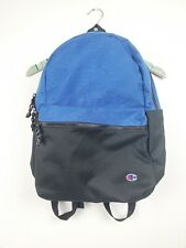 Champion Heather Royal Blue and Black 21L Script Backpack CS1000 EUC