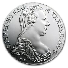 1780 Austria Maria Theresa .7517 Troy Ounce Silver Thaler AU+ Re-Strike Coin