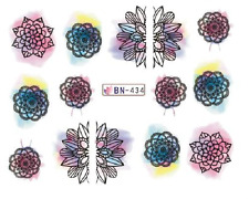 Nail Art Decals Transfers Stickers Coloured Designs (BN434)