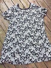ROAMAN'S Floral Tapestry Embroidery Paisley Onyx Maxi Dress Womens Plus Sz 28W