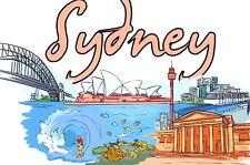 More details for pack of 50 new art postcards landmarks of sydney, australia b17