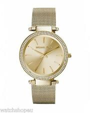 NEW MICHAEL KORS MK3368 LADIES GOLD MESH DARCI WATCH - 2 YEAR WARRANTY