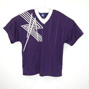 Vtg Umbro Mens Large Soccer Jersey Purple 1h27