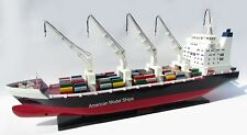 "General Cargo Ship with Cranes 40"" - Handcrafted Wooden Model NEW"