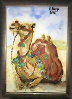 Kamel Camel Malerei Margarita Bonke zeichnung Pop art A4 Original Kunst