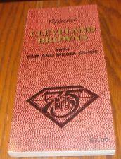 CLEVELAND BROWNS 1994 FOOTBALL FAN & MEDIA GUIDE-Early Bill Bellichik!