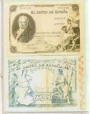 España Billete del año 1886 edición facsimil (CE-477)