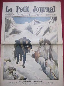 LE PETIT JOURNAL 1914 n° 1209 FACTEUR HEROS ALPES / REVOLTE PRISONNIERS AU CAIRE