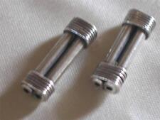 Thai karen silver beads~Double Bar-Hill tribe-2-hole-1-1.5mm, 20x6.5x4mm metal