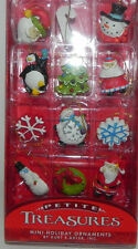 Christmas Table Tree Mini Ornaments Assorted Decoration Box 12 Pcs
