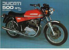 DUCATI 500 GTL BILILINDRICO TWIN SPORT BIKE 2 page Motorcycle Sales Brochure NCS