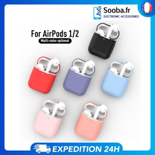 Housse Coque Apple AirPods 1 2 Silicone TPU Soft Skin Case  for Airpod