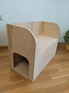 Cat Rabbit house bed hop up bench shelter hideout hide hideaway playhouse