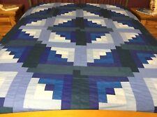 Queen size  Machine pieced patchwork quilt top#55