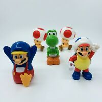"""McDonalds Super Mario Collection 2015 Happy Meal Toy Cake Toppers 3"""" 8cm Cake"""