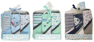 Zak & Zoey Baby Boys Hooded Towels 3-pack Brand New!