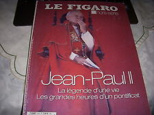 Le FIGARO HORS SERIE 18 04.2005 PAPE JEAN PAUL II Sa VIE Son PONTIFICAT