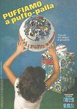 X0614 Puffiamo a Puffo-palla - Mondo - Pubblicità del 1983 - Vintage advertising