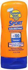 Banana Boat Sport Performance Activ Max Protect Broad Sunscreen SPF 100 4 oz 4pk