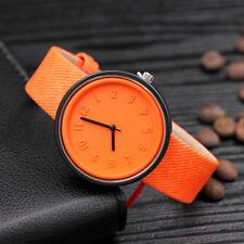 Fashion Womens Stainless Steel Watches Retro Quartz Analog Canvas Wrist Watch c9