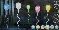 Globo Solarleuchte Erdspitz mit Luftballone, Kunststoff bunt, 5-er Set
