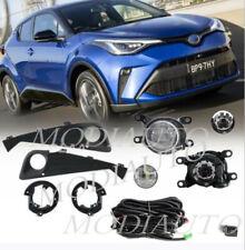 For 2020-21 TOYOTA C-HR CHR LED Bumper Fog Lights+Bezel Set+Harness+Switch/Pair