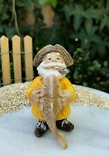 Miniature Dollhouse FAIRY GARDEN ~ Mini LAKE Fishing SEA Fisherman with Big Fish