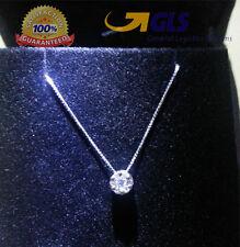 collier oro bianco con ciondolo punto luce mod. magic 0,30 ct diamanti naturali