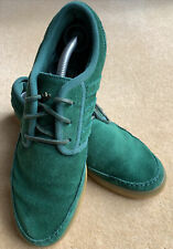 Adidas Green suede trainers Gum sole size 10UK  Art D69127 Rare Retro Street VGC