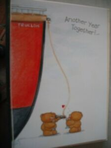 Another Year Together Our ANNIVERSARY (Bears & Ship) Forever Friends Card