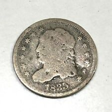 1835 US Five Cent coin,  Liberty Cap Half Dime,  Capped Bust, .892 Silver