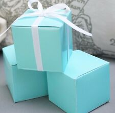 10 Robin Egg Blue Tiffany Blue Wedding Favor Gift Boxes Shower Turquoise paper