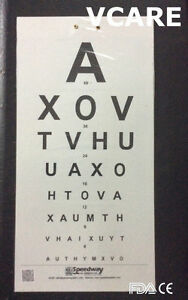 Distant Vision Testing Charts (FDA & CE) Eye Testing Chart (set of 2)