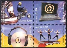 Aland 1998 Motorcycle/Motor Bike/Transport/Music/Computer/Keep Fit 4v blk n42991