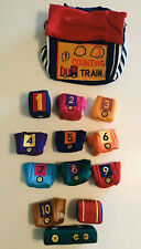 Vintage Lillian Vernon 123 Counting Train Soft Play Set Plush Toys Numbers